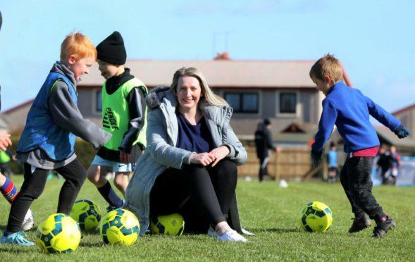 Shelley Hague of the  Arbroath Community Trust Football Academy