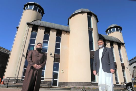 Iftekhar  Yaqub, president of Dundee Islamic Society, and Bashir Chohan,, chairman of Dundee Islamic Society, at Dundee Central Mosque.