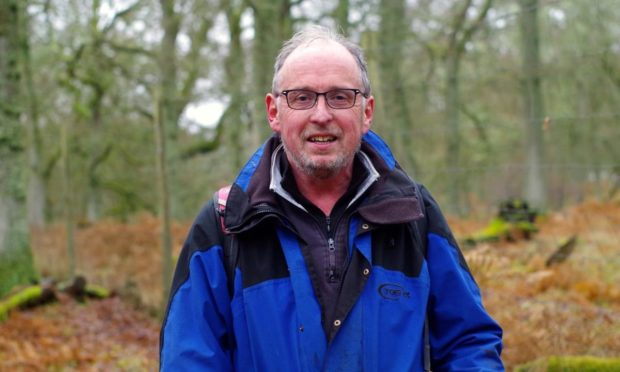 Ian Riches from the Woodland Working Group at Kinclaven.