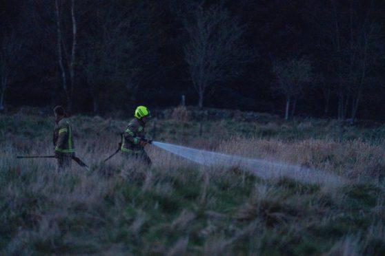 Lochore Meadows fires