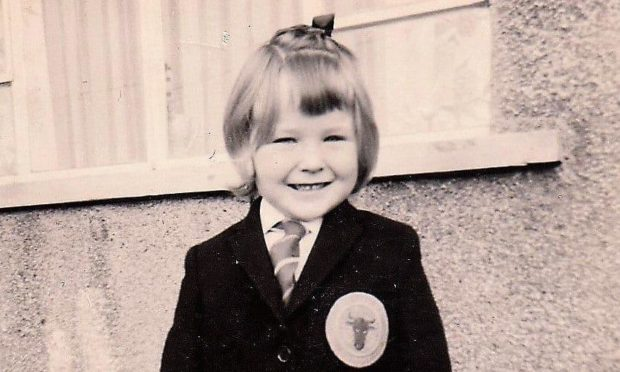 Lorraine Wilson during her days at St Luke's Primary in Fintry.