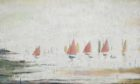 Yachts at Lytham, by LS Lowry (Tennants Auctions).