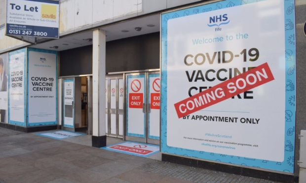 Kirkcaldy M&S vaccination clinic
