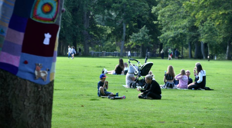 People can meet up in groups of six outdoors from Friday