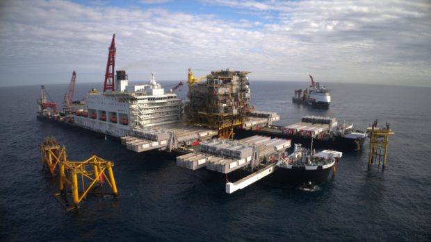 Allseas' Pioneering Spirit, the world's largest construction vessel heads for the Forth this weekend. i