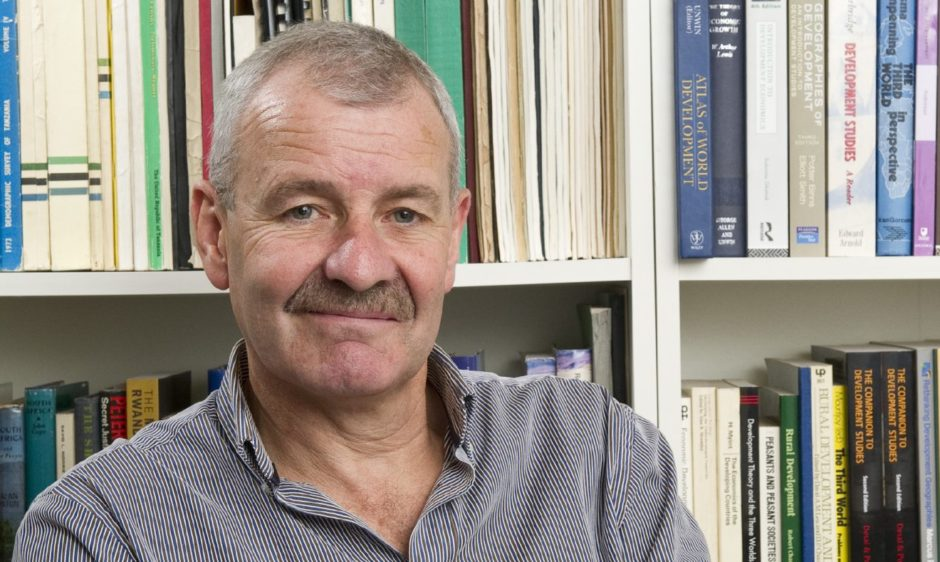 Professor John Briggs, chairman of the Perth-based Royal Scottish Geographical Society