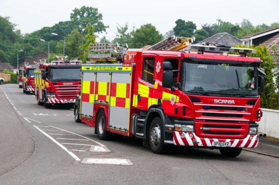Two crews were called to attend a fire in the school's garden area.