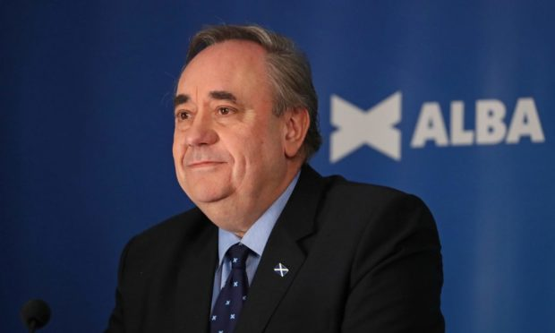 Alba Party Leader and former first minister of Scotland, Alex Salmond.