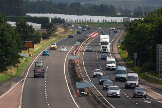 Stirton's journey began on the A90 at St Madoes