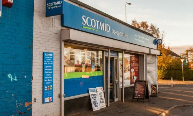The Scotmid shop on Fintry Road, Dundee.