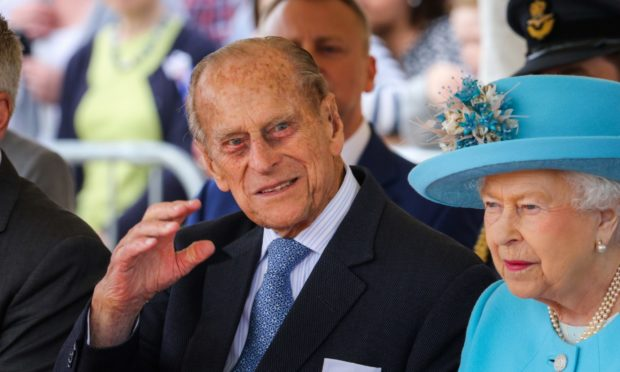 Prince Philip during a visit to Dundee in 2016.