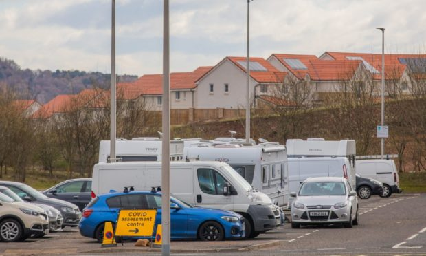 The Travellers' site at Broxden Park and Ride.