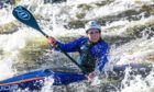 Courier News - Perth - Steve Brown - Easter Weekend Canoing Slalom Practice - No Job Number - Grandtully - Picture Shows: Slalom Canoists from Breadalbane Canoe Club practice on the course at Grandtully in Perthshire over the Easter Weekend - Saturday 3rd April 2021 - Steve Brown / DCT Media