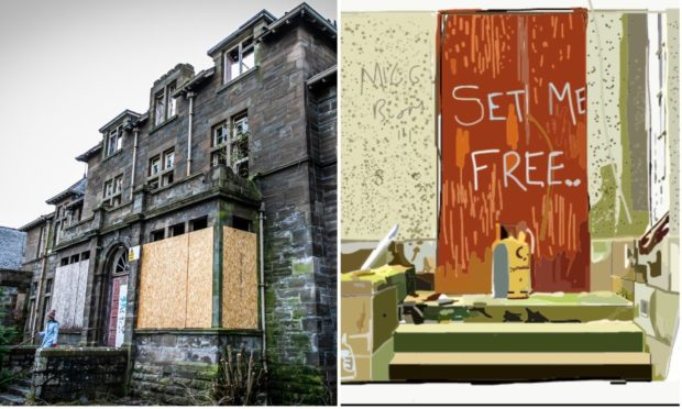 Logan Lovegrove's art is inspired by derelict Strathmartine Hospital.