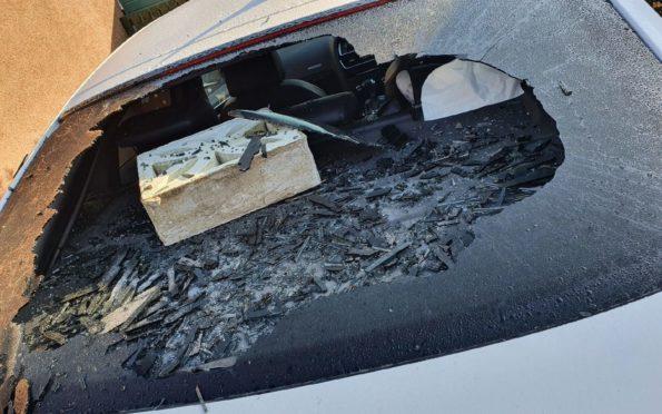 Vandalised car in Tayport