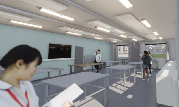 An artists impression of inside the new centre.