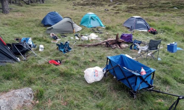 dirty camping perthshire app