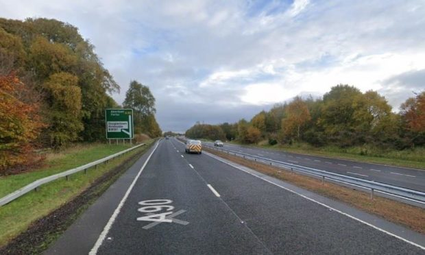 The contraflow will be in place south of the Forfar bypass.