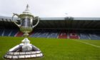 The Scottish Cup trophy.