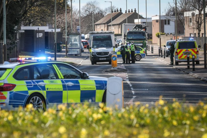 Police were at the scene alongside crews from the ambulance service