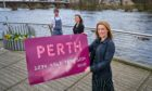Emily Queen, city and town centre management officer for Perth and Kinross Council, Helen MacKinnon, Perth Festival of the Arts and Andrew Moss, North Port Restaurant.