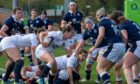 Action from the England-Scotland Women's Six Nations match on Saturday.