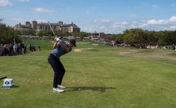 Jordan Spieth at the 18th on his way to winning the Valero Texas Open