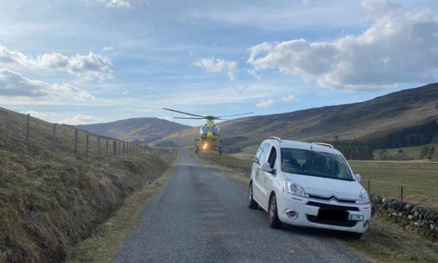 Perthshire biker crash
