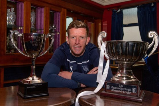 Defender Lee Ashcroft is Dundee FC Player's Player of the Year for 2020-21 and also picked up the Andrew De Vries Trophy for Fan's Player of the Year.