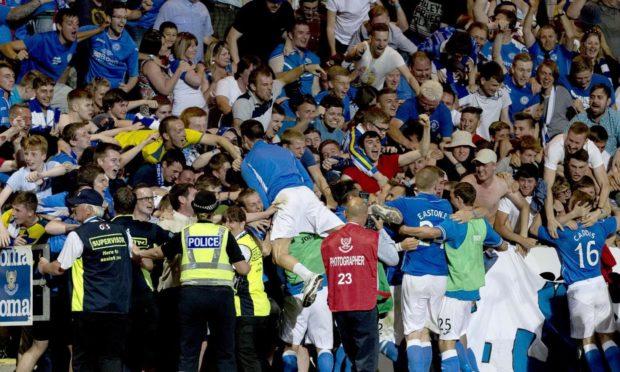 European scenes when the Saints beat Luzern