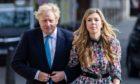 Boris Johnson and partner Carrie Symonds.