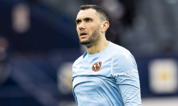 Dundee United goalkeeper Deniz Mehmet.