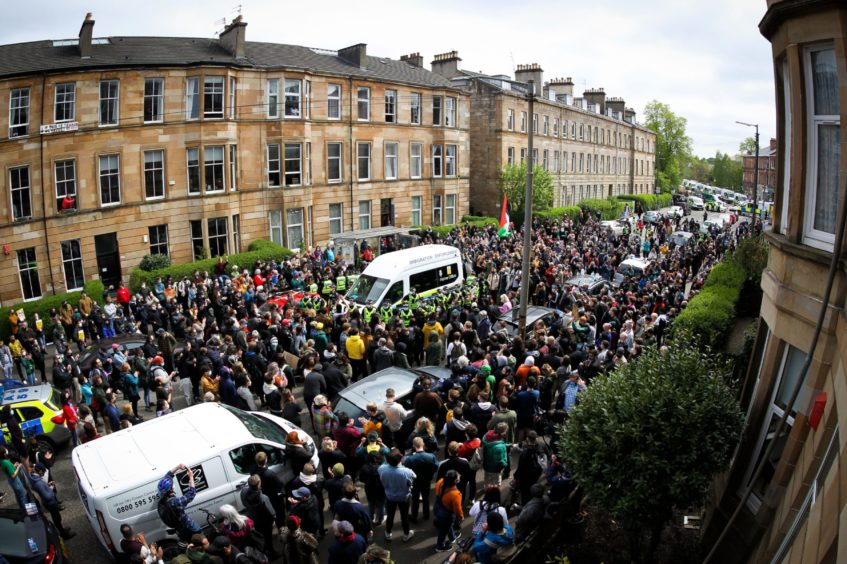 kenmure street glasgow protests