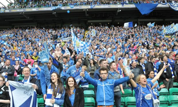 St Johnstone fans at the 2014 Scottish Cup final.