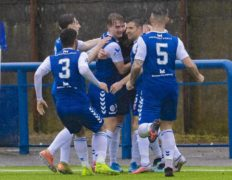 Montrose 2 Morton 1: Graham Webster's stunning volley gives Angus side advantage in Championship play-off showdown with Morton