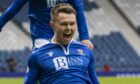 Glenn Middleton celebrates his goal against St Mirren.