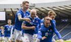 Glenn Middleton celebrates making it 2-0 St Johnstone.