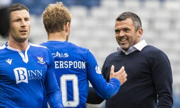 St Johnstone manager Callum Davidson at full-time.