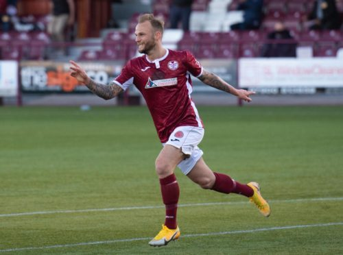 Kallum Higginbotham put Kelty in front with a stunning opener at Arbroath