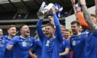 David Wotherspoon lifts the Scottish Cup for a second time.