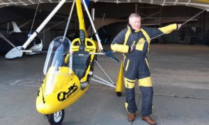 Willie Rennie microlight flight