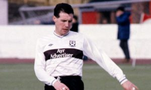 John Sludden in action for Ayr United.