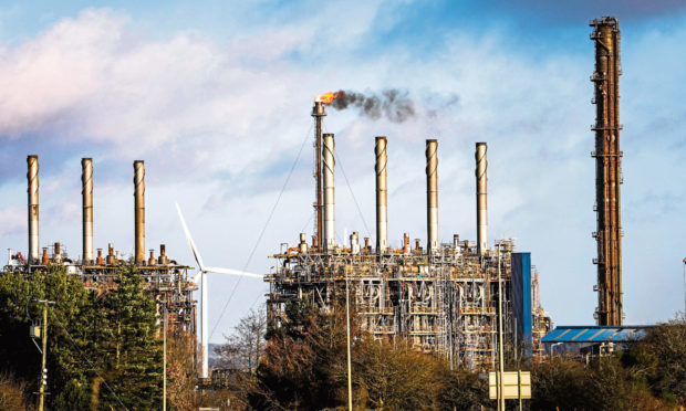 The Mossmorran Petrochemical plant near Cowdenbeath.