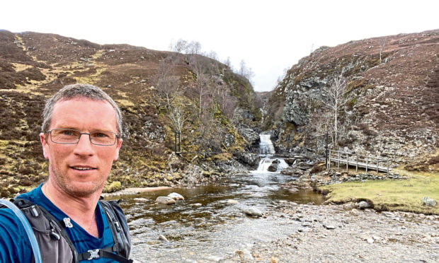 Pete Grewar is training for a 105 mile walk across Scotland to raise money for Cancer Research UK.
