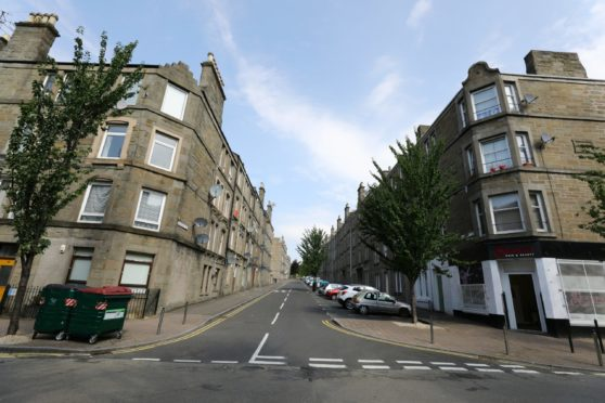 Baldovan Terrace in the Stobswell area of Dundee.