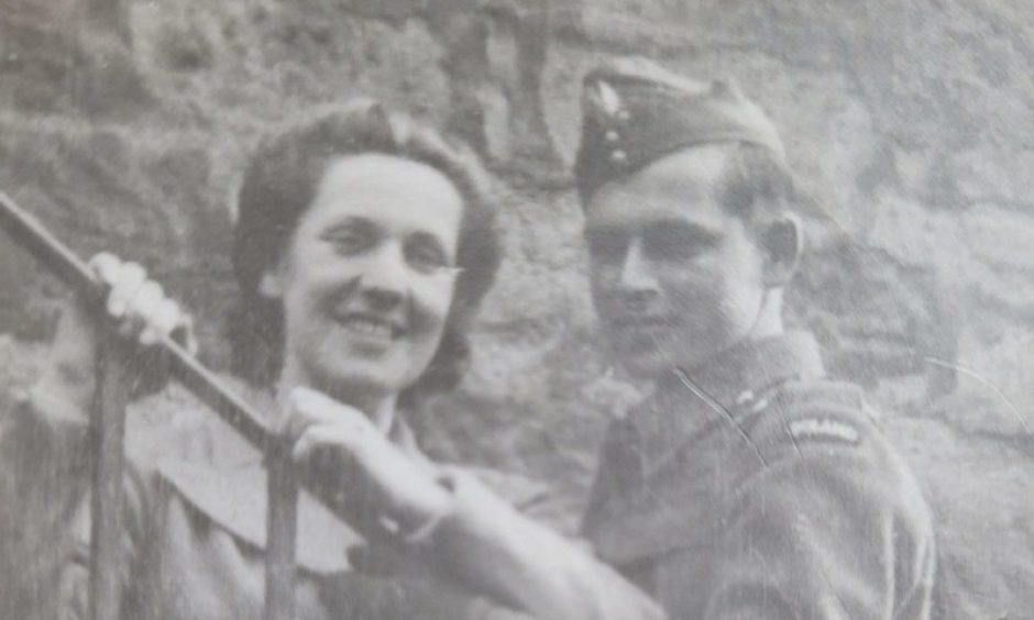 Ella and Joe together in Dundee during World War Two.