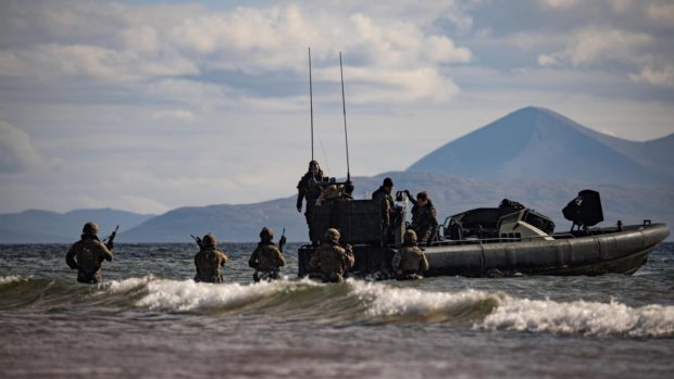 Military exercise at Loch Lomond