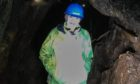 Fiona in the underground mine at the Museum of Lead Mining at Wanlockhead, dedicated to mining in that village and nearby Leadhills.