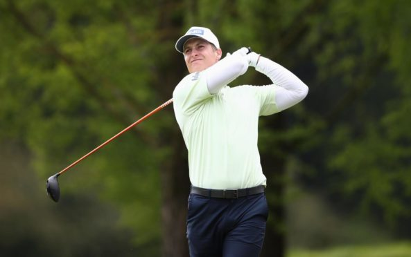 Scotland's Calum Hill on the 2nd tee at the Belfry.