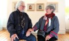 Artists Charles MacQueen and Christine Woodside at the Tatha Gallery in Newport.